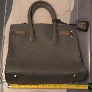 Charcoal Grey & Gold Purse